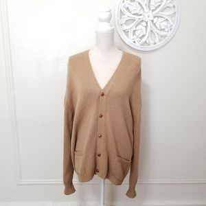Saks fifth Avenue size L camel hair sweater